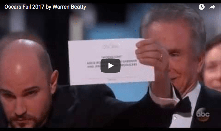 video still of oscar envelope beatty