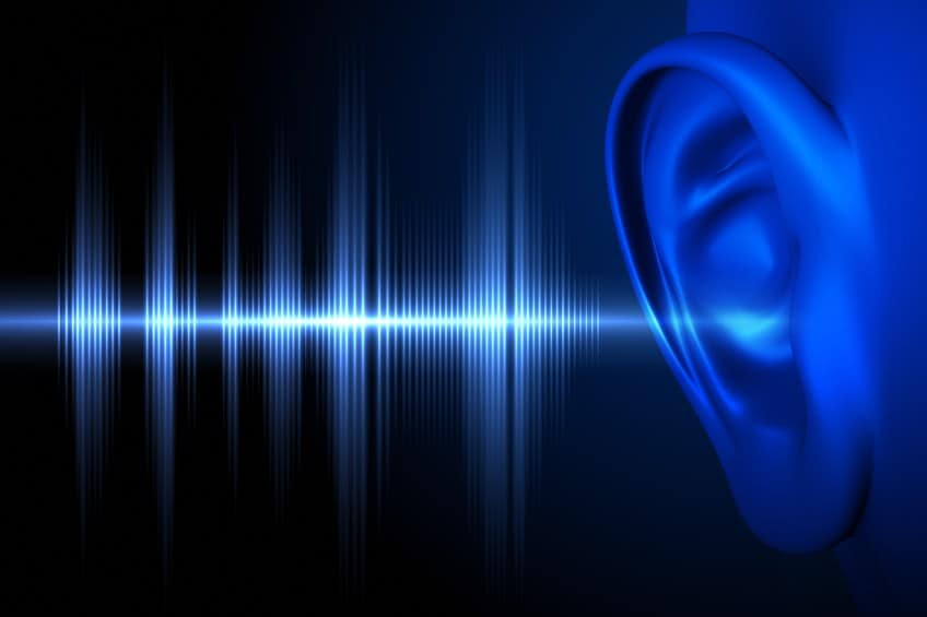 close up of ear and sound waves illustrating setting up listening posts