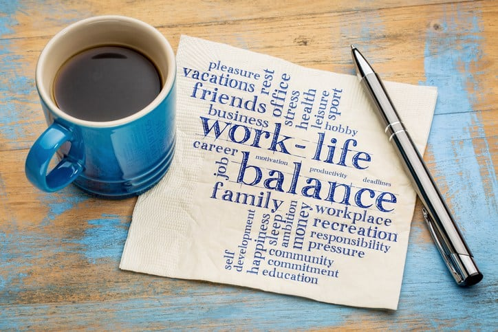 word tree with work life balance large