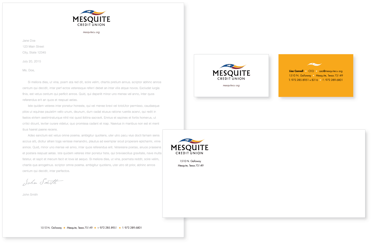 Mesquite CU Logo | On the Mark Strategies