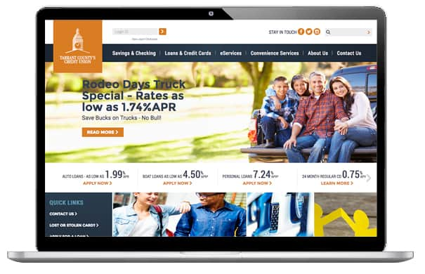 Tarrant County CU Website