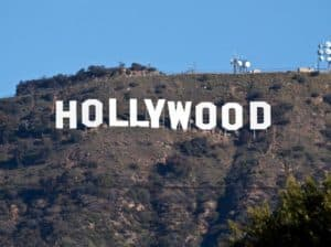 the hollywood sign up in the hills